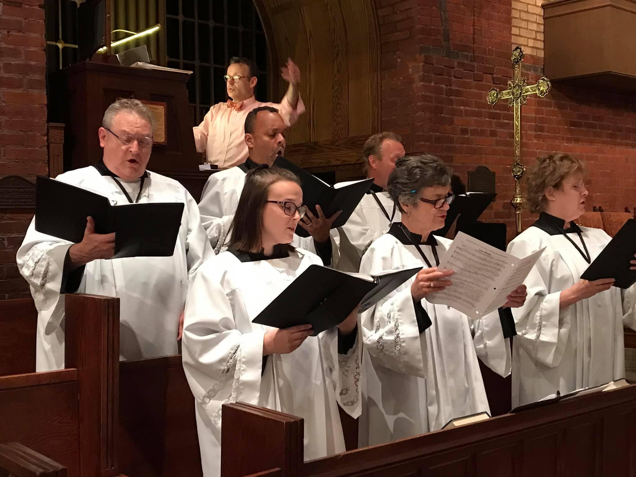 Choir at Evensong Pentecost