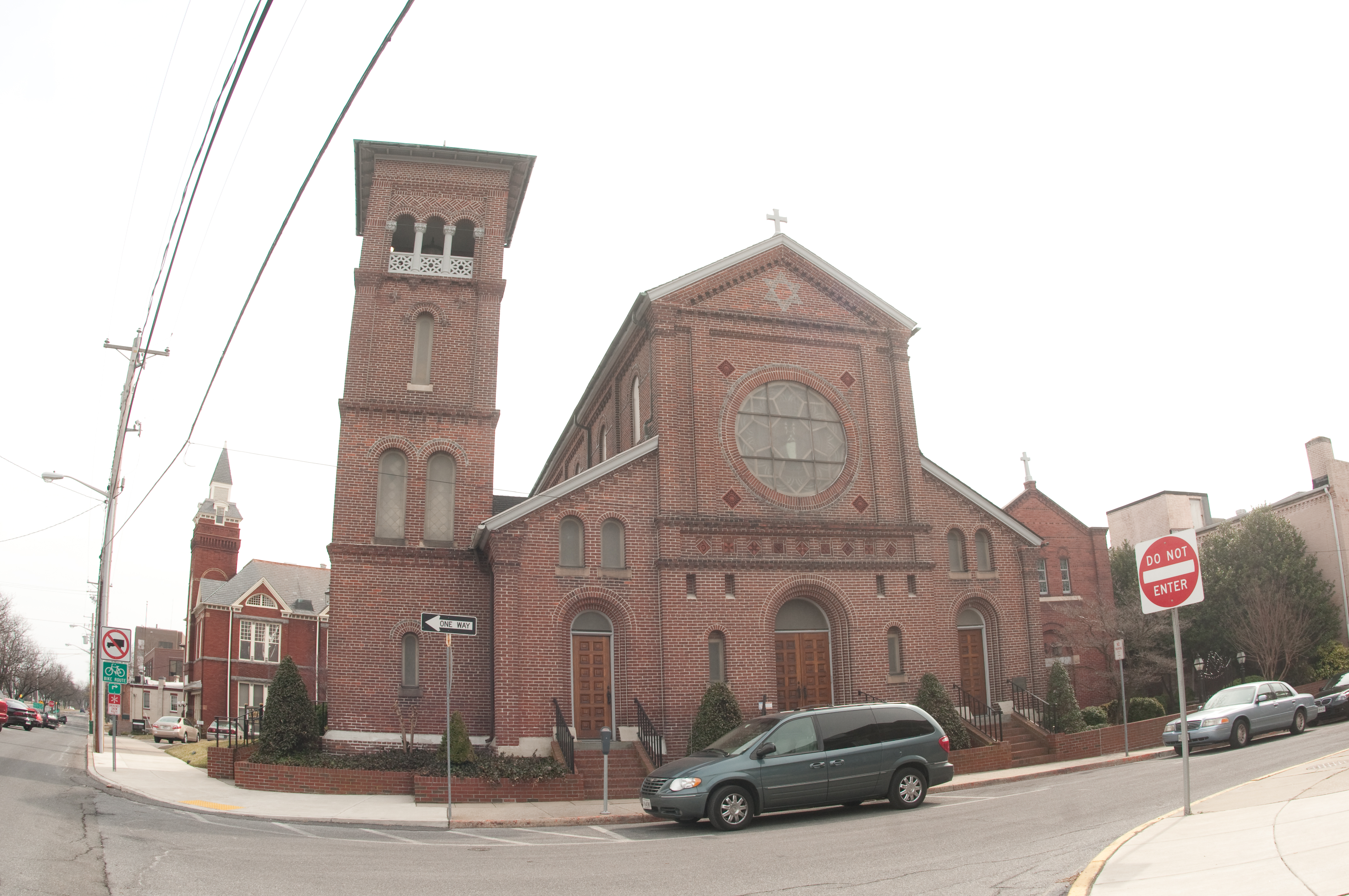 St. Peter's Church at the corner of St. Peter's and Church Sts. in downtown Salisbury